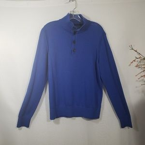 Banana Republic Cotton Cashmere Sweater Blue NWT